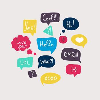 Text Speak bubbles