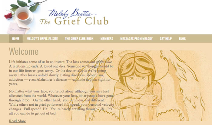The Grief Club community website